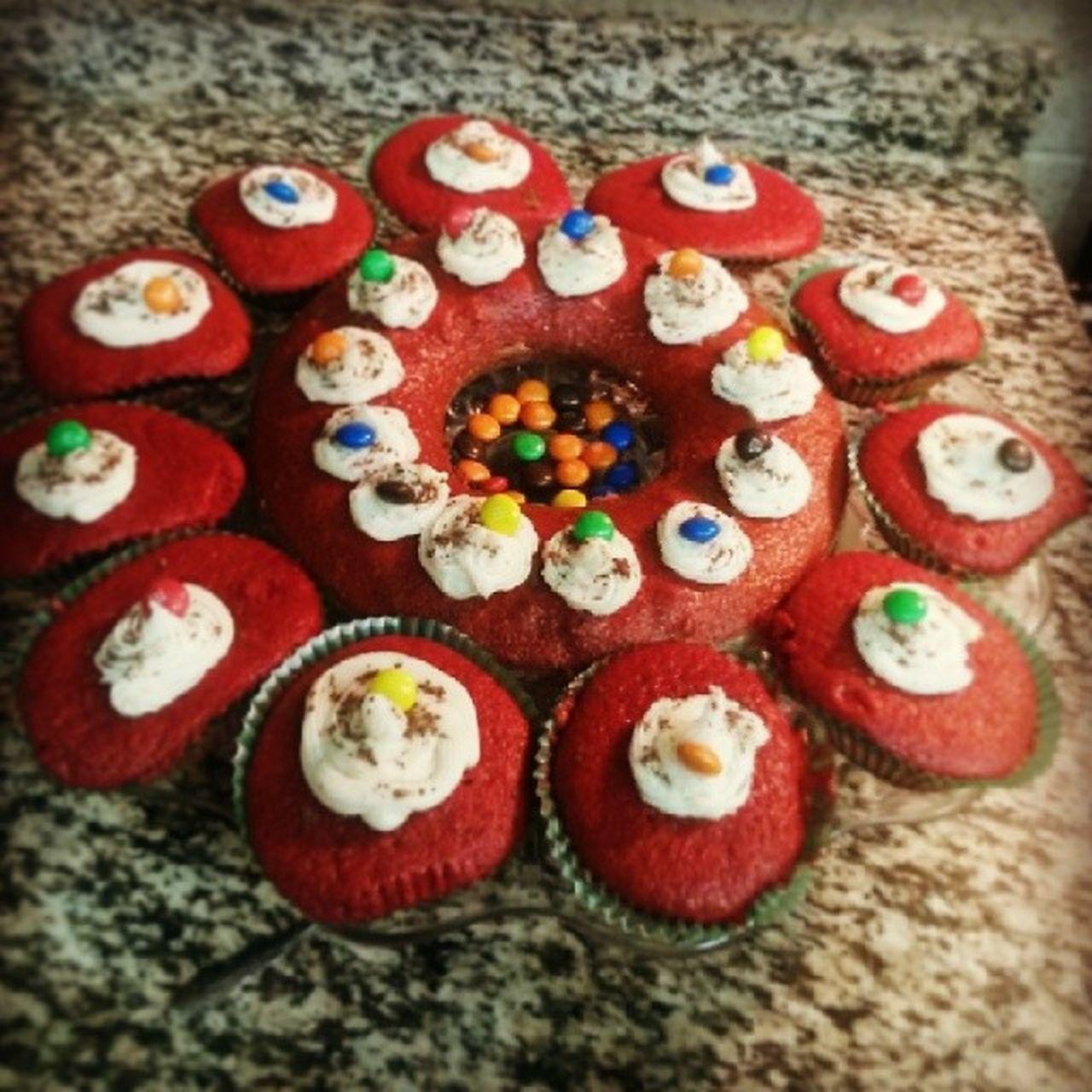 My MnM n Redvelvetcupcakes n Cake NewYear 2014