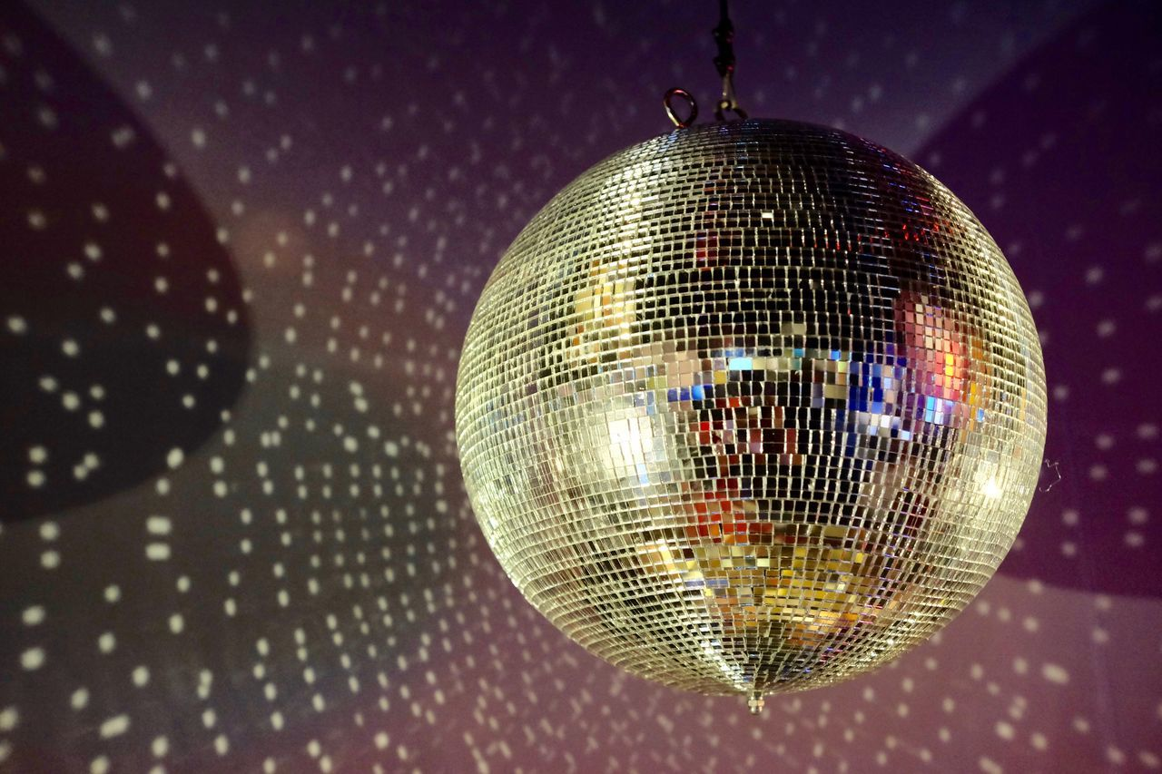 Close-up Disco Ball Disco Dancing Hanging Indoors  Lights Lights And Shadows Nightclub Nightlife No People Party - Social Event Reflection Sphere