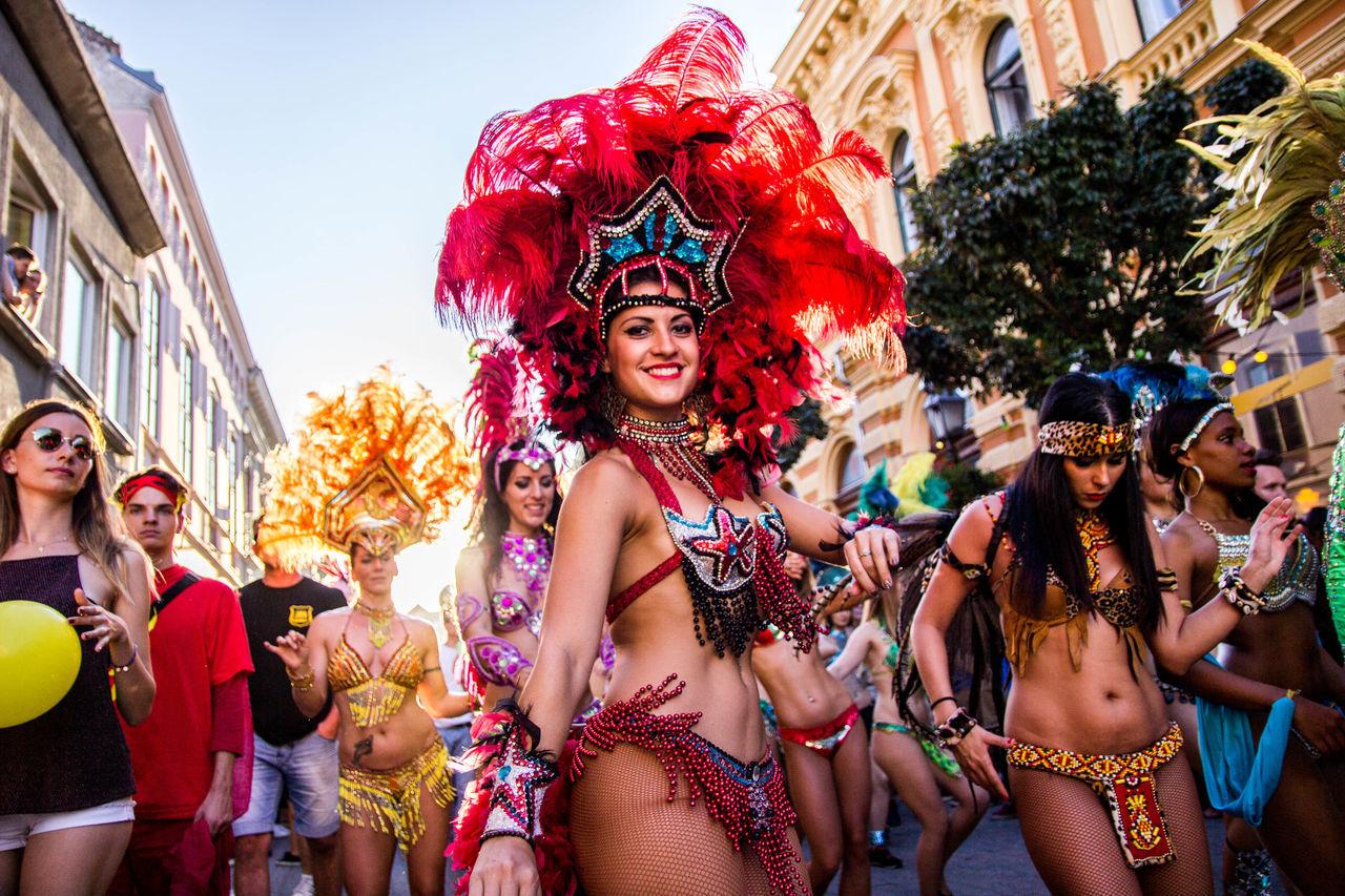 Arts Culture And Entertainment Beauty Carneval Celebration City Dance Dancing Hungary Only Women Portrait Pécs Samba Smiling