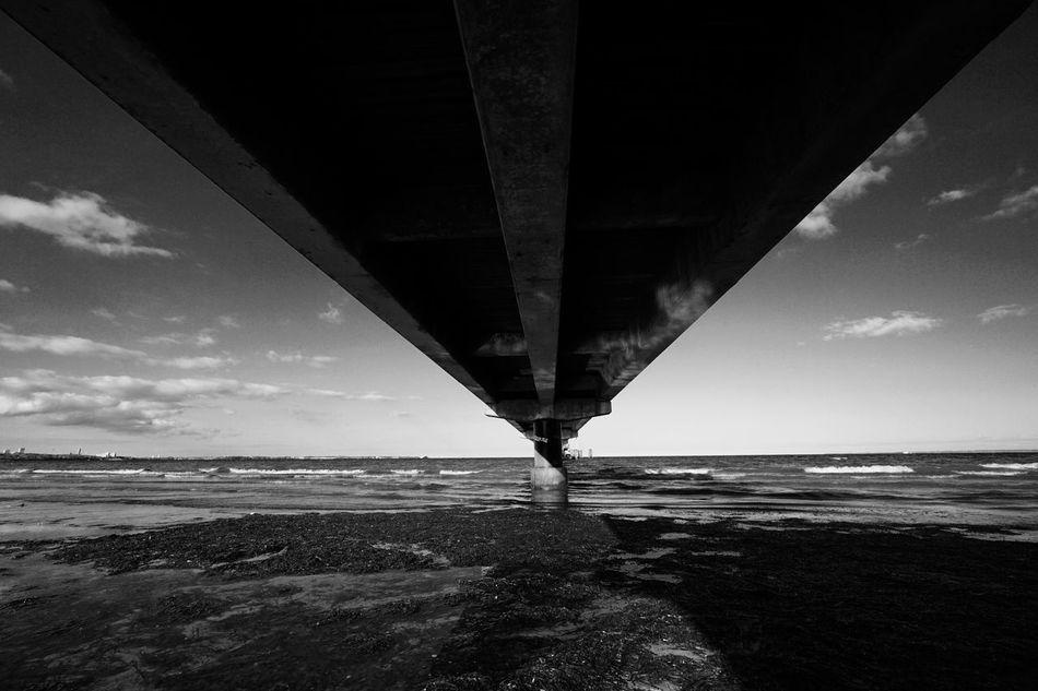 Monochrome Schwarzweiß Schwarz & Weiß Seebrücke Scharbeutz