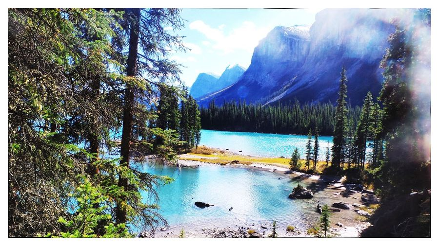 Not A Postcard Holiday Added Border Transfer Print Water Auto Post Production Filter Tranquil Scene Tree Scenics Tranquility Lake Mountain Beauty In Nature Idyllic River Non-urban Scene Nature Outdoors Sky Remote Day Tourism Mountain Range
