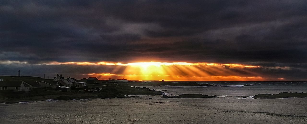 Crepuscular Light Sunset Seascape Wigwam Holiday