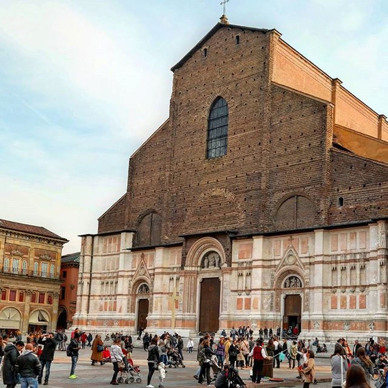 The Basilica of San Petronio is the main church of Bologna...with unfinished facade SanPetronio Igbologna Bolognawelcome Igemiliaromagna Basilica Bolognacity