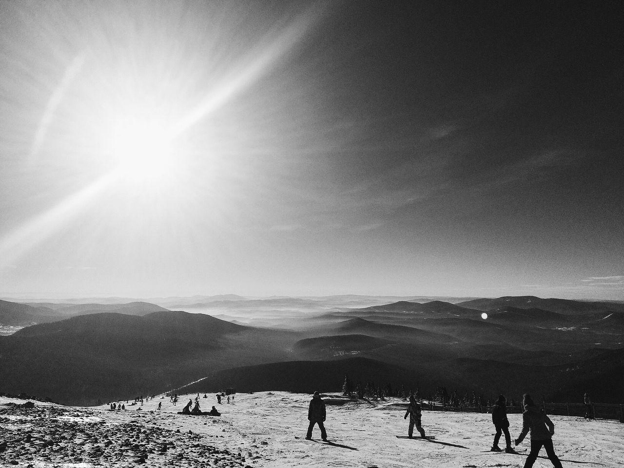 Large Group Of People On Ski Slope