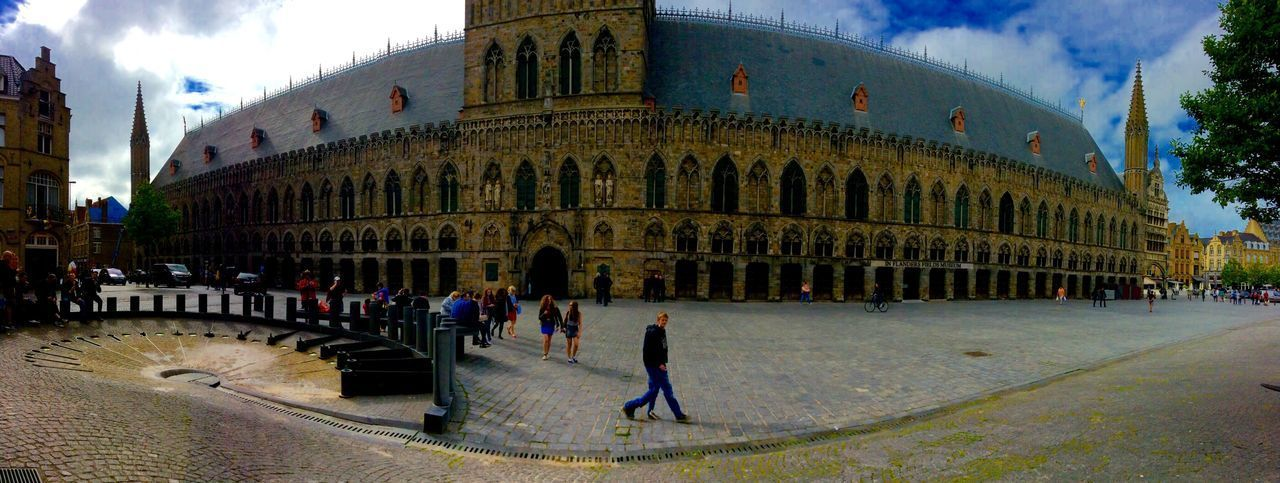 Architecture Building Exterior Built Structure Large Group Of People Walking City City Life Person Travel Destinations Famous Place Tourism Tourist Full Length Sky In Front Of Arch History Façade Day Outdoors Church Belgium Ww1 Ww1 Museum