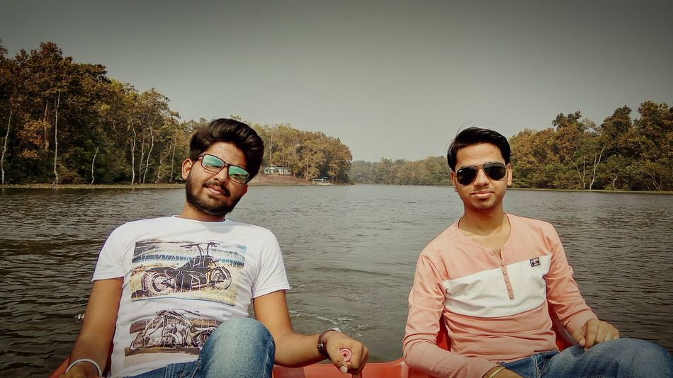 Twopeople Boating In The Lake Happiness Sunglasses Casual Clothing Fun Beard Smiling Relaxation Summer The Portraitist - 2017 EyeEm Awards