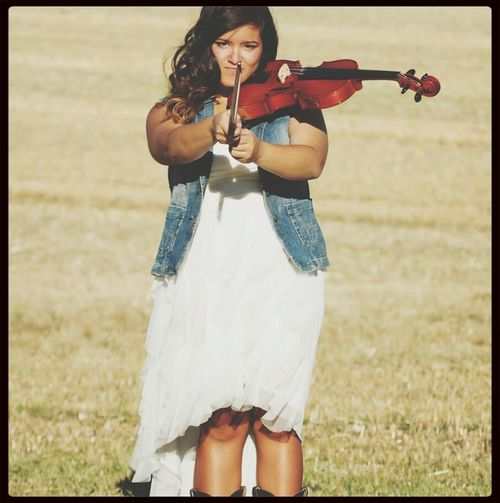 Senior Pictures  Violin Country Girl Feirce