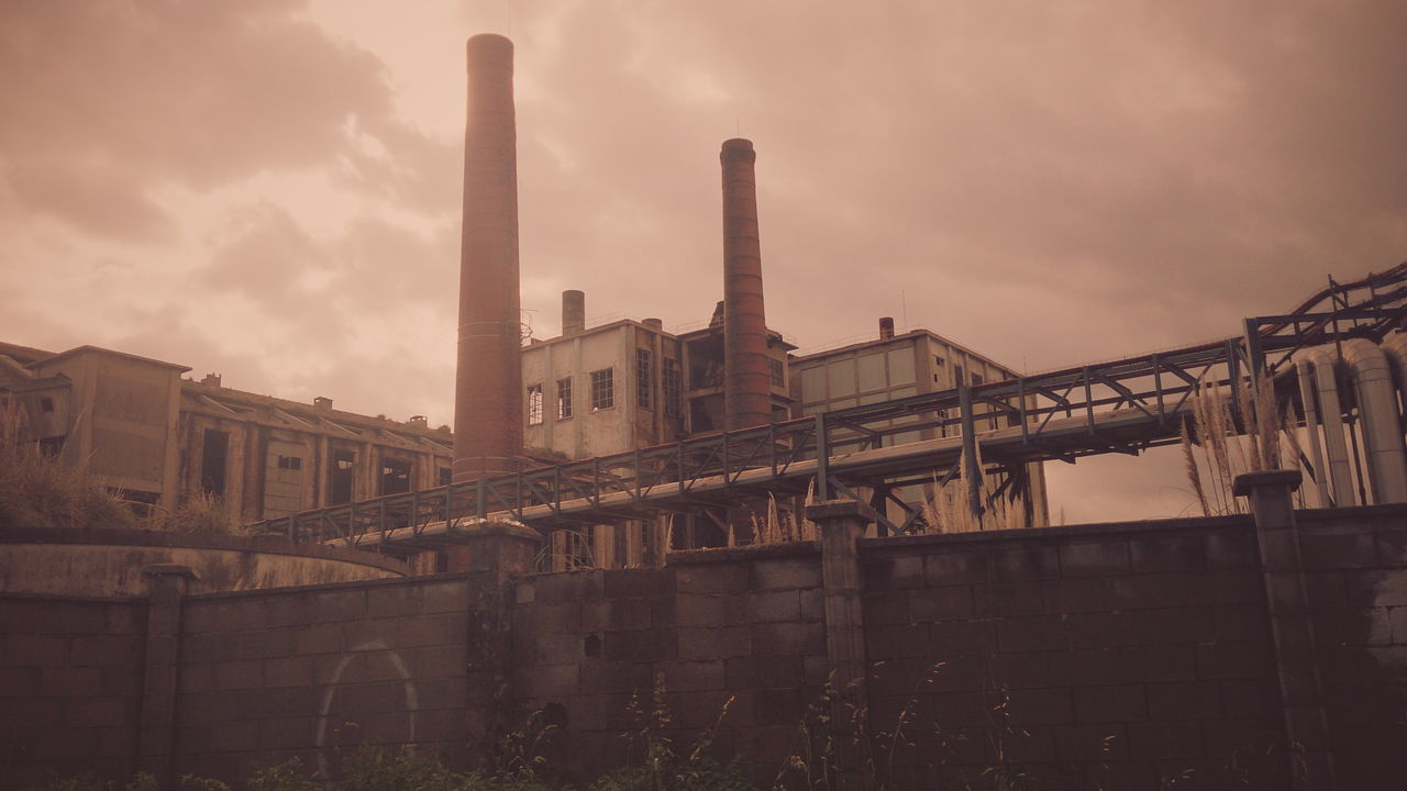 Paper mill in torrelavega Architectural Column Architecture Building Built Structure Capital Cities  City City Life Cloud Cloud - Sky Cloudy Company Day Exterior Fabric Historic No People Outdoors Overcast Paper Sky Travel Destinations Weather