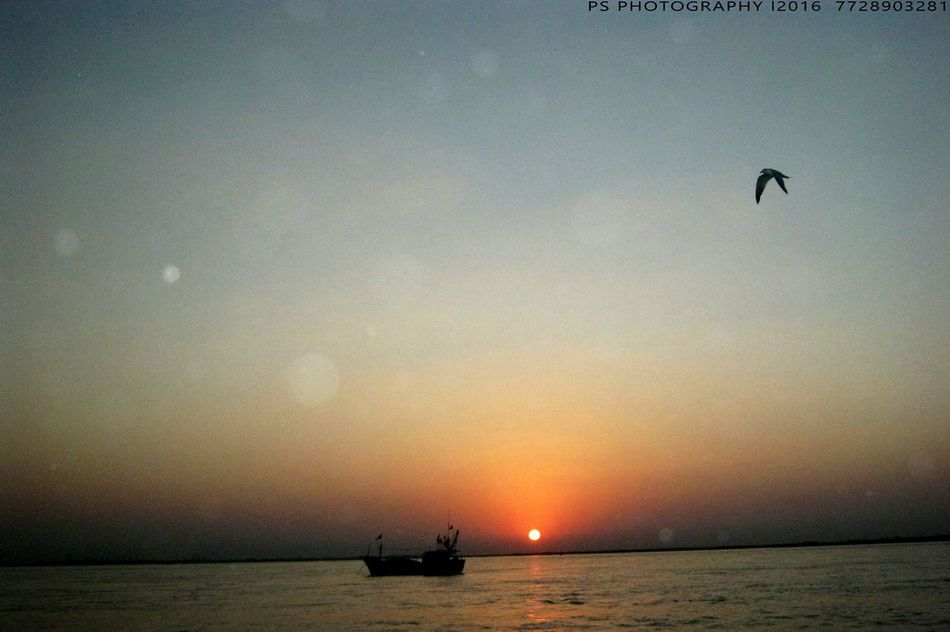 Harshit HarshitaDeshpande First Eyeem Photo Sunset Water Waterfront Sun Nautical Vessel Transportation Sea Boat Orange Color Scenics Tranquil Scene Tranquility Silhouette Mode Of Transport Idyllic Reflection Nature Beauty In Nature Vacations Journey