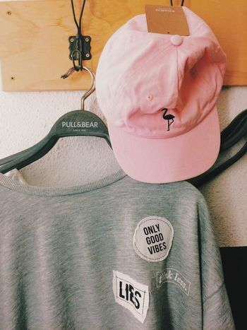 Pink Pull&bear Cap Sweather Clothes Fashion