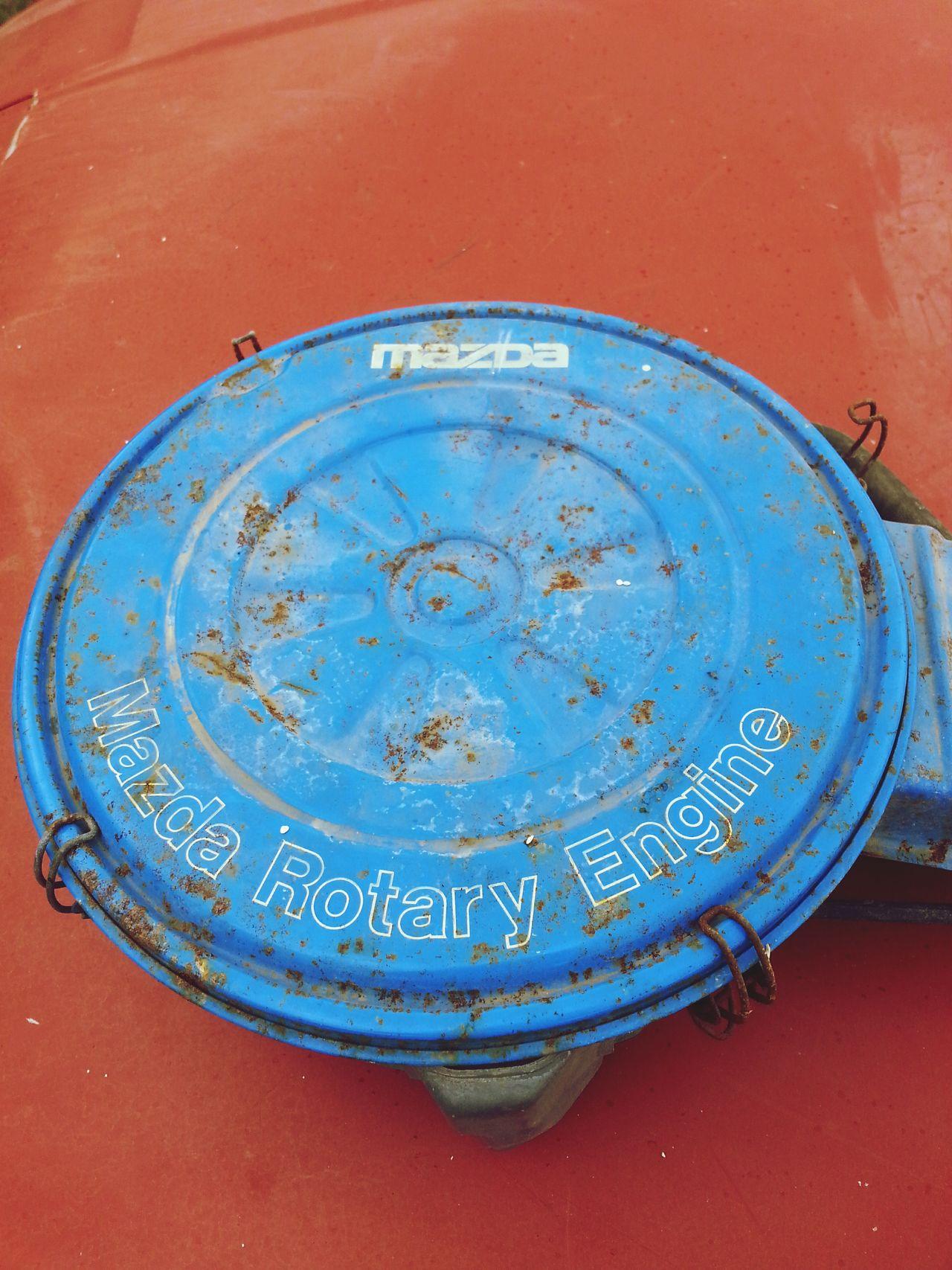 Close-up Outdoors Retro Car Parts Carporn Air Breather Blue Rotary Engine Mazda