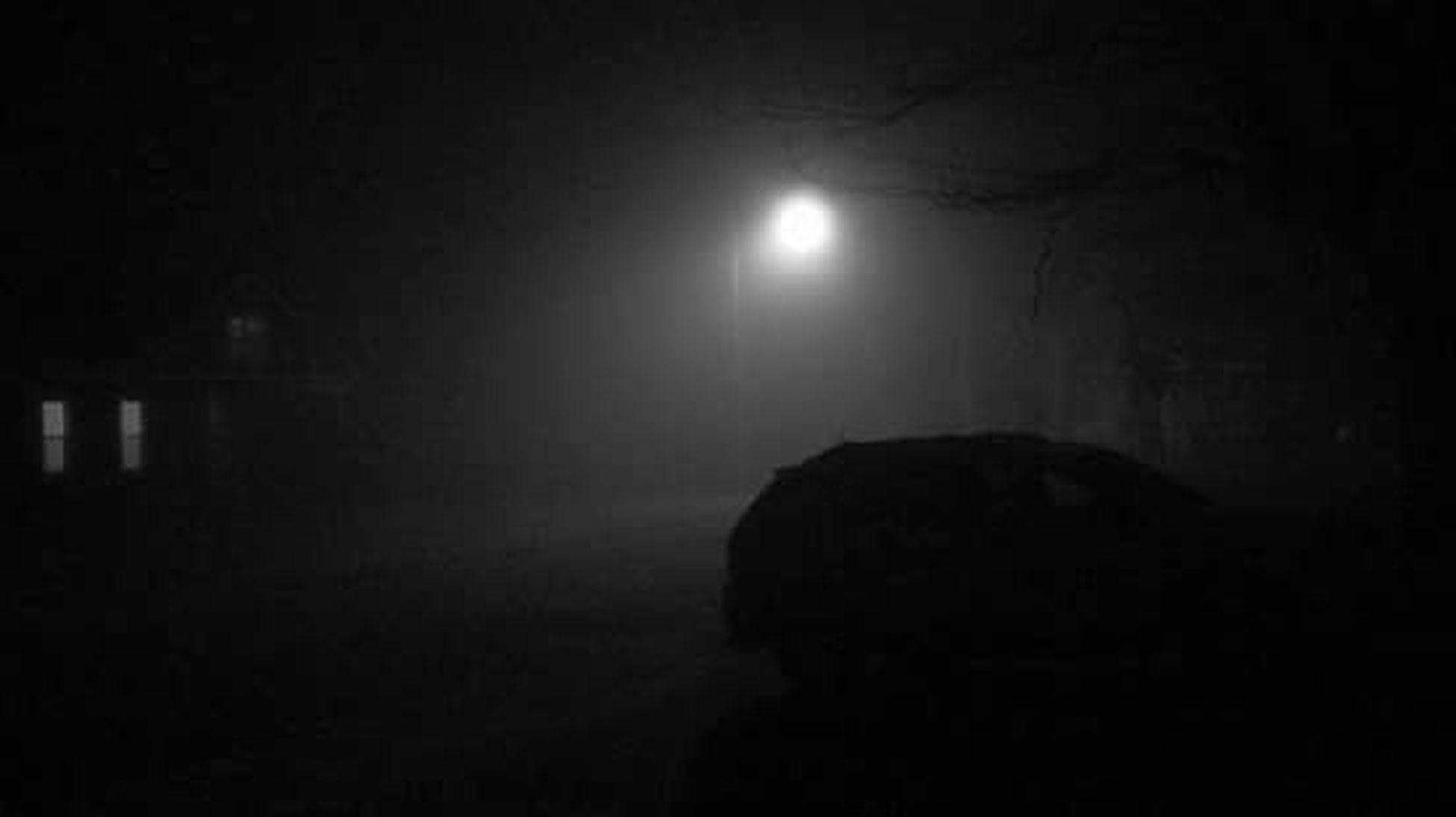 Really Foggy! Midnight Blackandwhite Photography My Street Eerie Beautiful Alone... Alittle Creepy Pure Michigan
