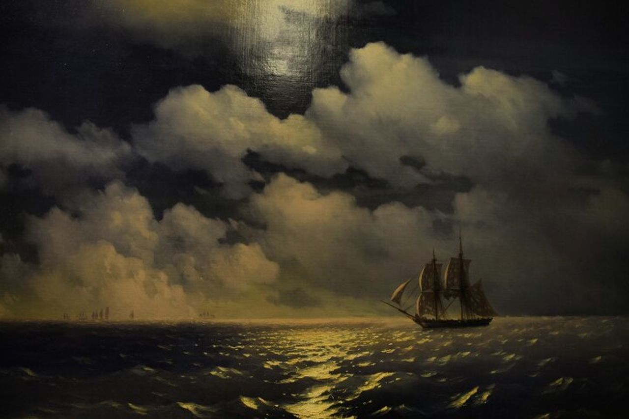 Sea Travel Nautical Vessel Cloud - Sky No People Outdoors Tall Ship Sailing Storm Storm Cloud Sailing Ship Nature Sky Night Айвазовский классика Classic Picture Beautiful Aivazovsky живопись Sea And Sky Ship Details