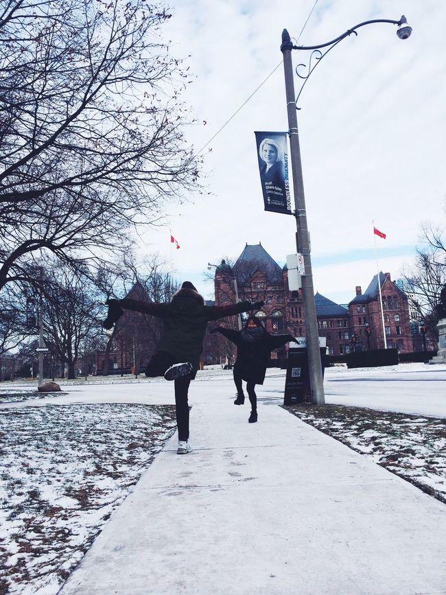 0126 Canada Toronto Cold Winter ❄⛄ Fun Pose Lovethemsomuch Ibelieveicanfly