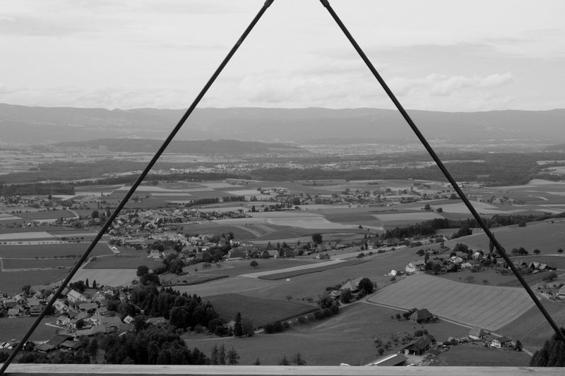 High Angle View Outdoors Landscape Day No People Nature Triangle Nature Jura Seeland Kanton Bern Switzerlandpictures Blackandwhite Photography Black And White Black & White HJB Blackandwhite View Overview My Place Place To Be  Silence Of Nature Silent Moment