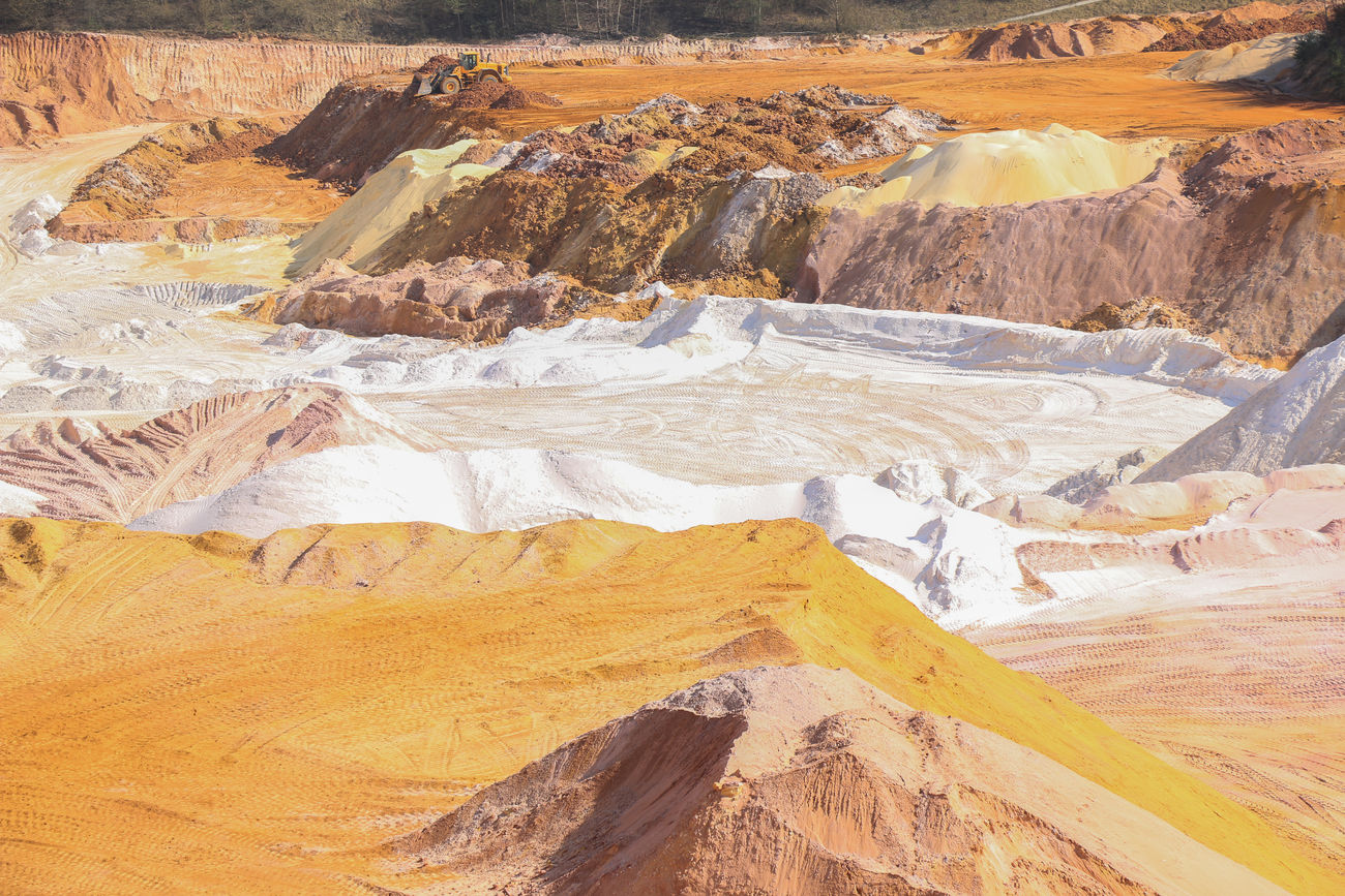 Colors Day Directly Above Earthmoving Excavation Landscape Nature No People Outdoors Quarry Sand