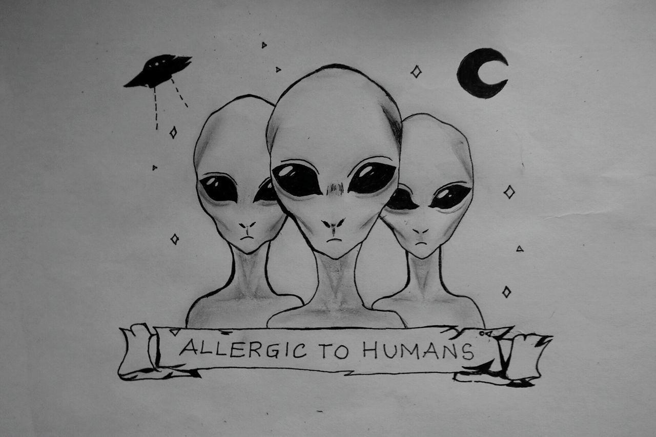 Aliens UFO Iwanttobelieve Drawingtime