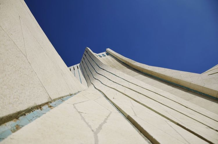 Architecture Low Angle View Day No People Clear Sky Blue Outdoors Built Structure Sky Close-up