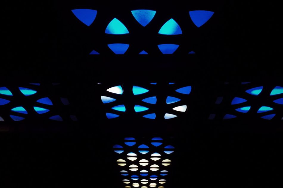 Agharti Architecture Backgrounds Blue Ceiling Lights Color Color Light Color Lighting Color Lights Colorful Colors Dark Darkness And Light Diodes Illuminated Indoors  Low Angle View Lumiere London Lumière No People Odessa Odessa,Ukraine Pattern Religion Sky