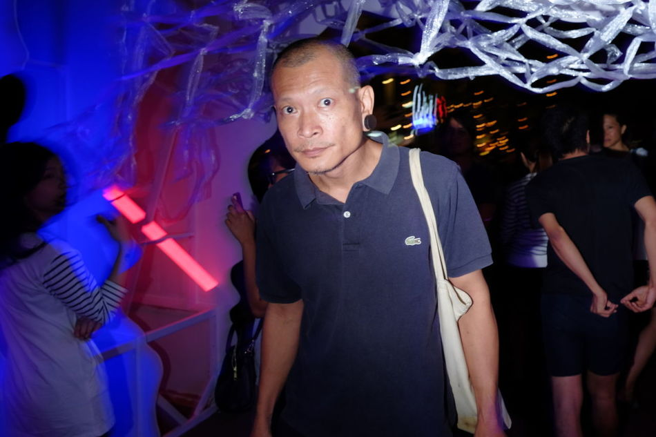 UNPOSED Streetphotography Mature Adult Arts Culture And Entertainment Music Nightclub Dj Mature Men Nightlife Portrait Only Men Archival People Night Adults Only Men One Person Adult One Man Only