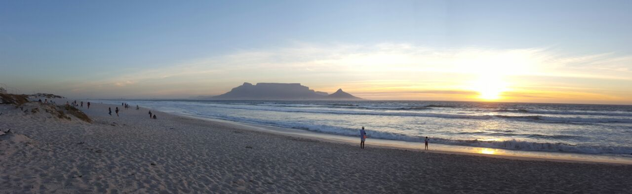 Sea Beach Sand Water Horizon Over Water Sunset Nature Beauty In Nature Summer Wave Sunlight Vacations Tranquil Scene Tranquility Travel Destinations Sky Outdoors Sunbeam Idyllic Scenics Mountain Cape Town Table Mountain First Eyeem Photo