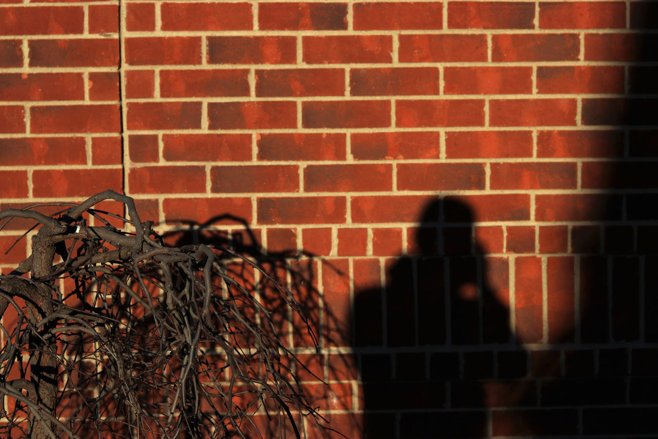 some brickwork Architecture Brick Wall Bricks Building Exterior Built Structure Canon Canon80d City City Life Day EyeEm EyeEm Best Shots EyeEm Gallery Housing Settlement Lookatme Moody One Person Outdoors Real People Shadows