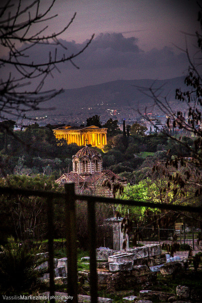 Ancient_greek_religion Architecture Athens, Greece Building Building Exterior Built Structure Canon Church HDR History Light Lightroom Mvphotography Night Old_new Orthodox Outdoors Religion Residential Structure