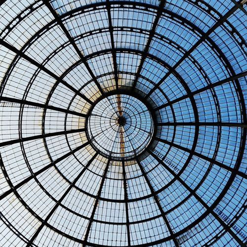 Circle Dome Indoors  Concentric Full Frame Low Angle View Day Pattern Backgrounds Cupola No People Built Structure Architecture EyeEm Selects Milan Italy Eyem Gallery Travel Destinations Walking On The Street Breathing Space Investing In Quality Of Life The Week On EyeEm