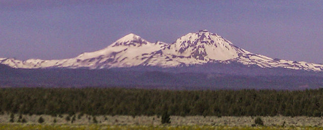Eastern Oregon Landscape The Three Sisters Mountains