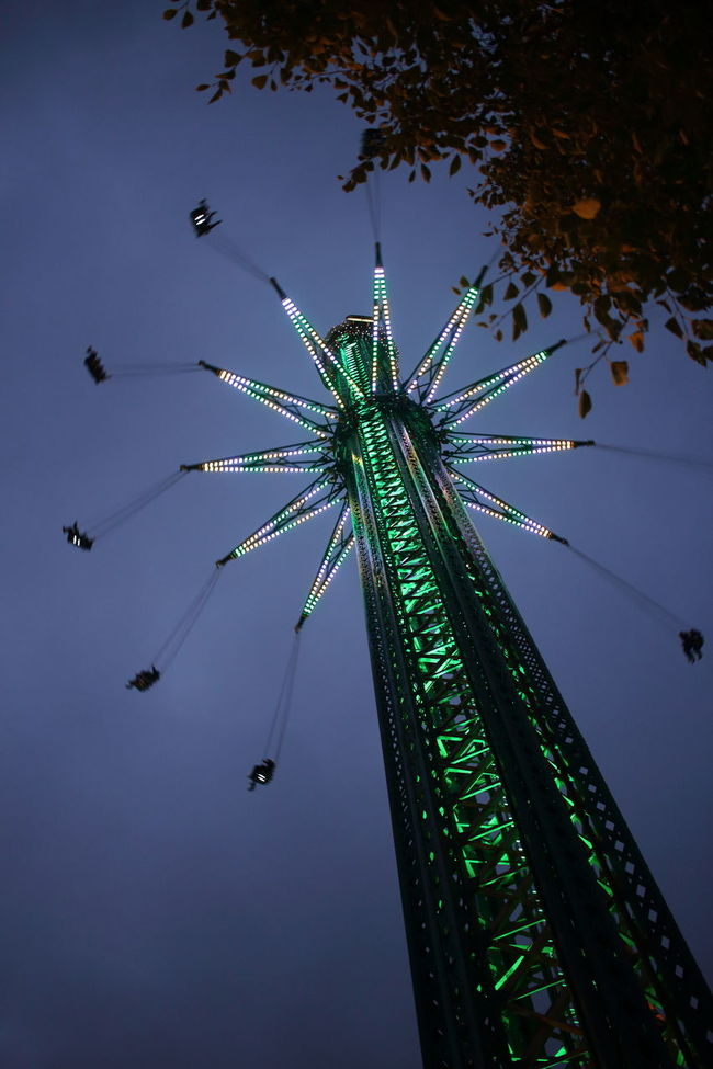 Amusement Park Arts Culture And Entertainment Chain Swing Ride Fear Fun Fun High Low Angle View Outdoors Praterstern Sky Superlative Tall - High Vienna Vienna Prater Wiener Prater