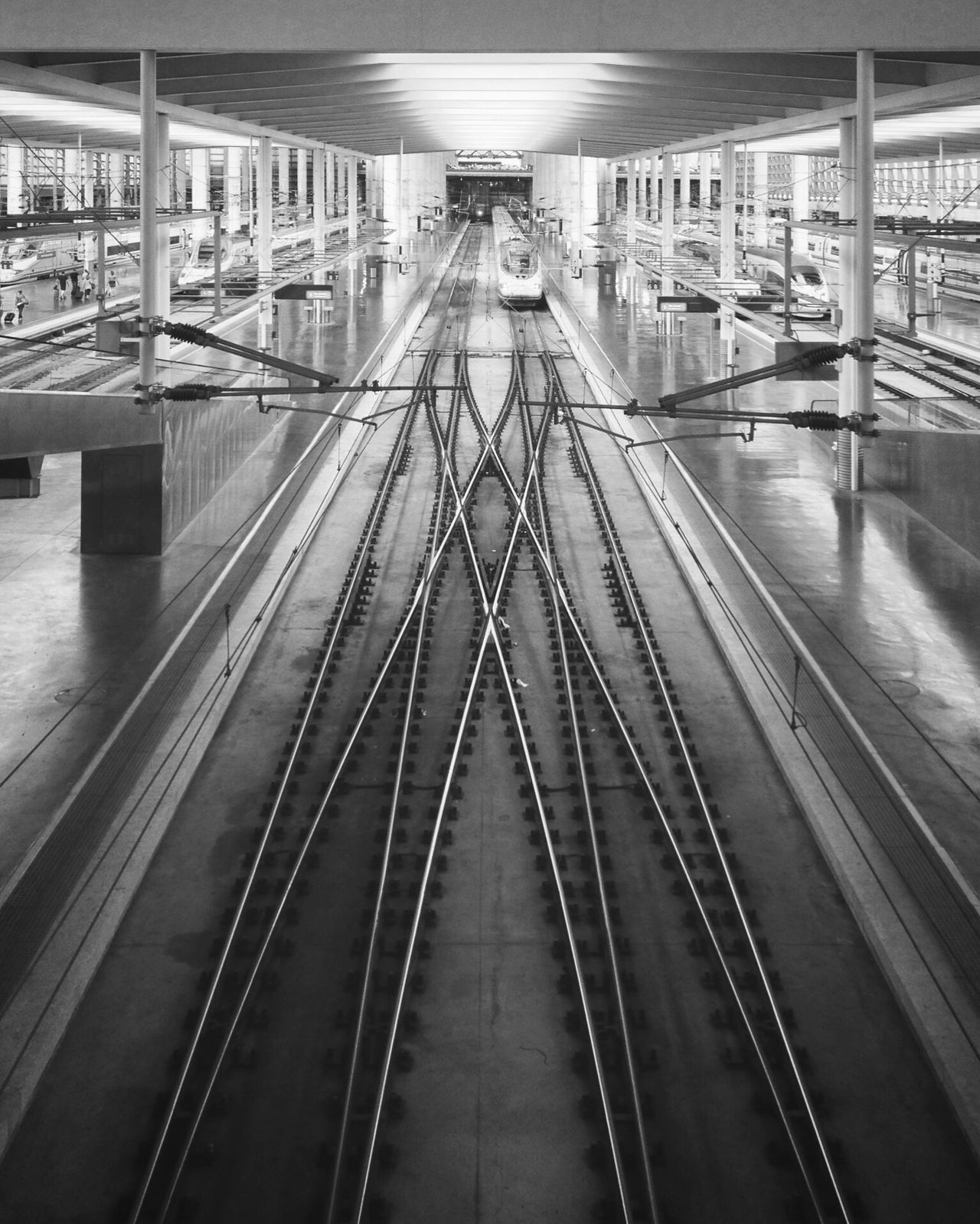 - Weaving paths. Weave Path Railway Train Train Station Atocha Madrid Transportation Architecture Public Transportation Blackandwhite Bnw EyeEm Best Shots - Black + White