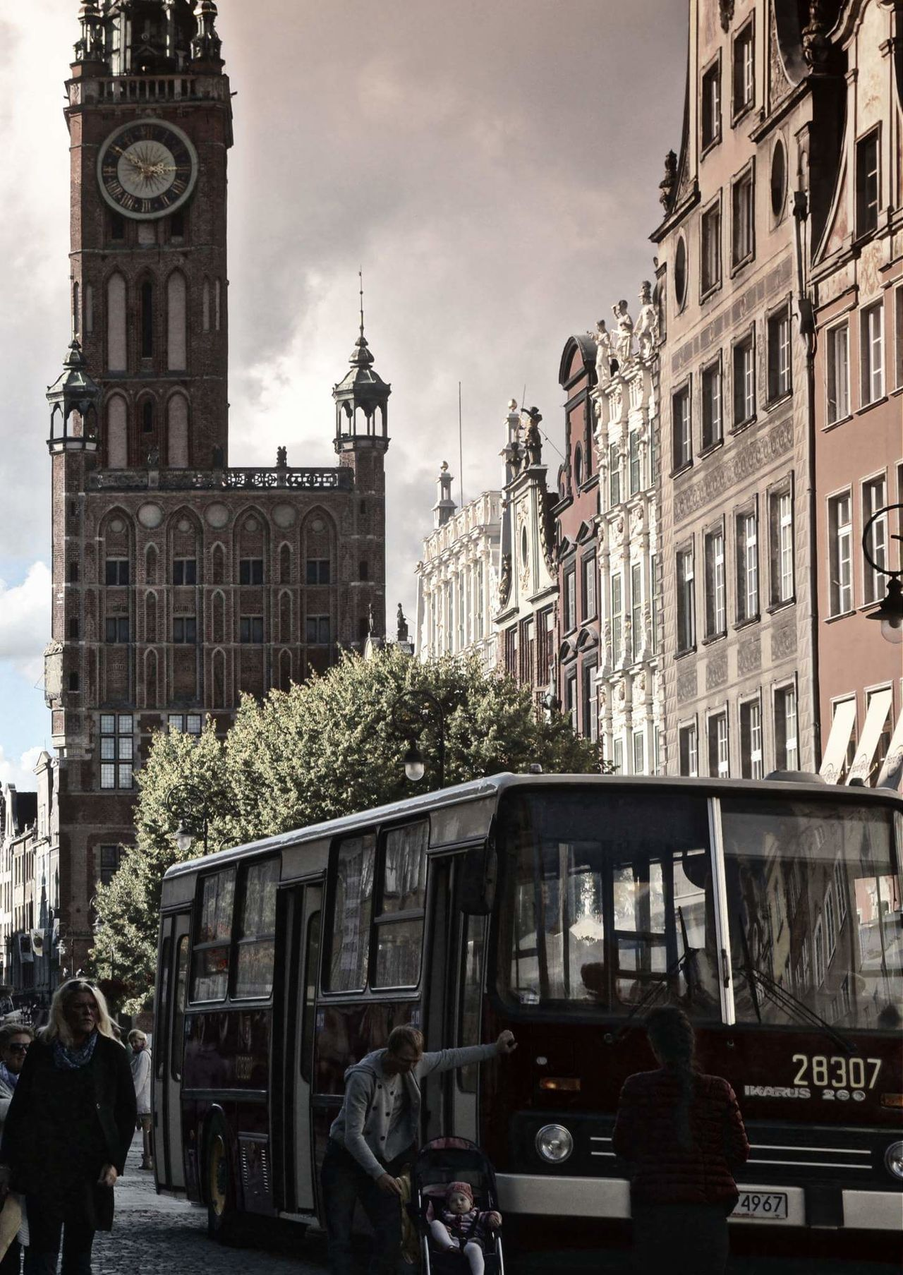 Clock Tower Architecture Old-fashioned No People Clock Cultures Built Structure Day Victorian Style Travel Destinations City Minute Hand Travel Outdoors Clock Face Statue Gdańsk. Gdańskeye Gdansk,poland Night Gdansk (Danzig) Cityscape City Gdansk_official Sky
