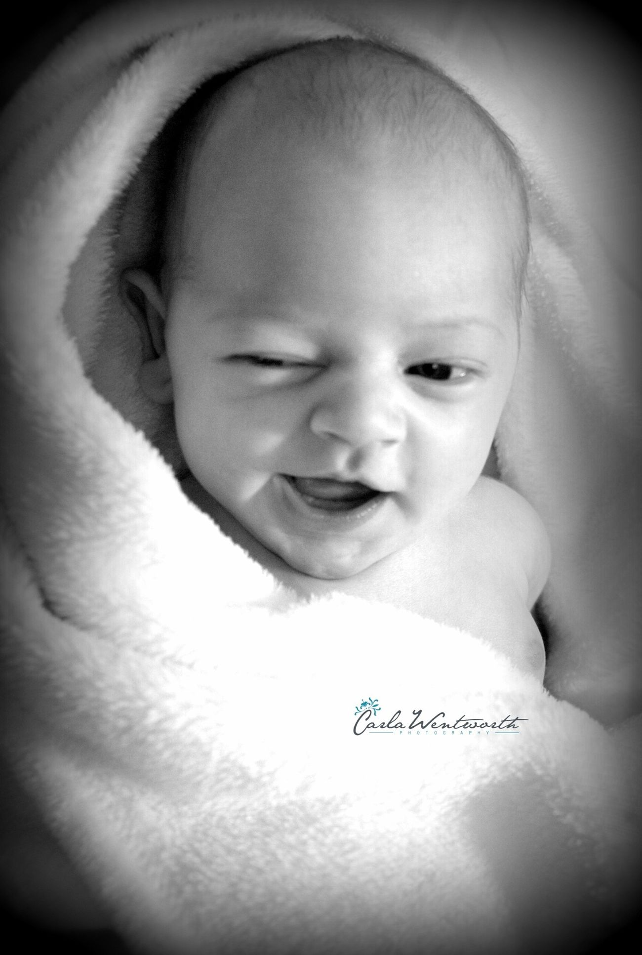 Cute Wink Baby Photography Carla Wentworth Photography