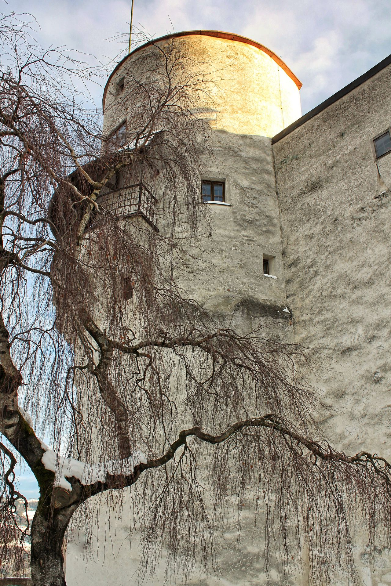 Hohensalzburg Castle Festung Hohensalzburg Salzburg, Austria Österreich Building Exterior Built Structure Castle Tower Winter Tree And Sky Travel Photography Travel Destinations Outdoor Photography Showcase June