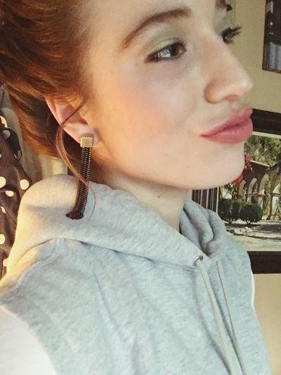 Because I wanna look like Audrey Hepburn #lip Service Deep Heavy Earrings Firstchoicehairstyle