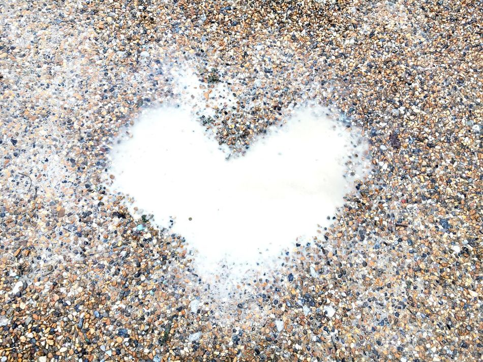 Heart Shape Heart Puddleography Puddle Love No People Pebble Full Frame Backgrounds Textures And Surfaces Wedding