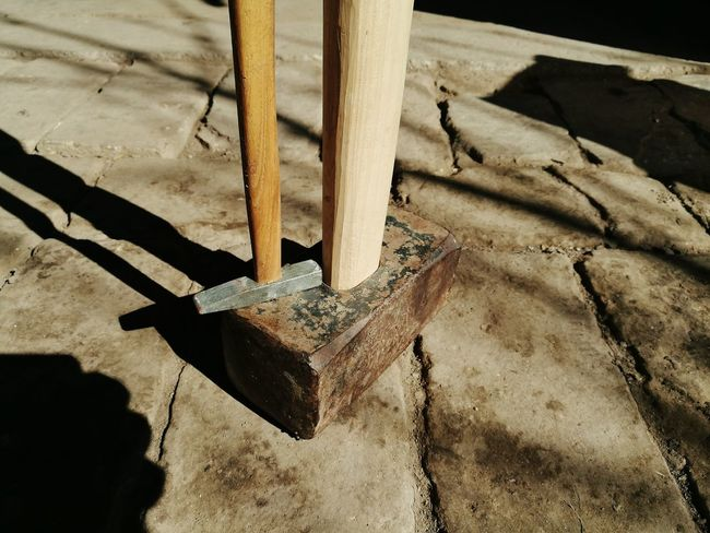 Hammer Extremities Small And Big Tools Work Tool Equipment No People Outdoors Blacksmith