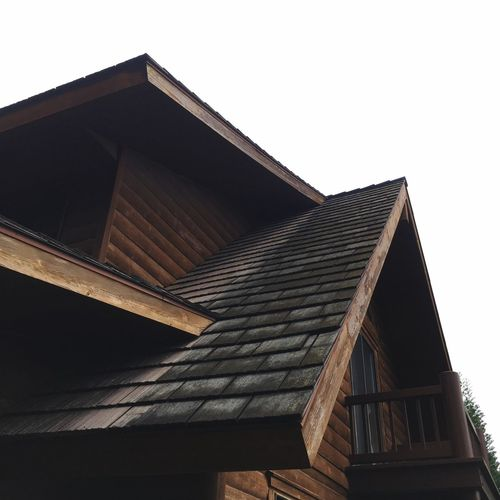 Low Angle View Built Structure Architecture Cabin In The Woods Smartphone Photography IPhone Photography Tagaytay Highlands