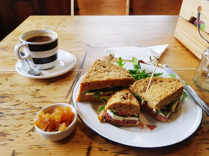 A spot of lunch at No1 Peebles Road, Innerleithen EyeEm Selects Food And Drink Plate Coffee - Drink Table Food Coffee Cup Bread Sweet Food Toasted BreadReady-to-eat No People Innerleithen Scottish Food Wood - Material Drink Breakfast Indoors  Freshness Day Close-up Food Stories