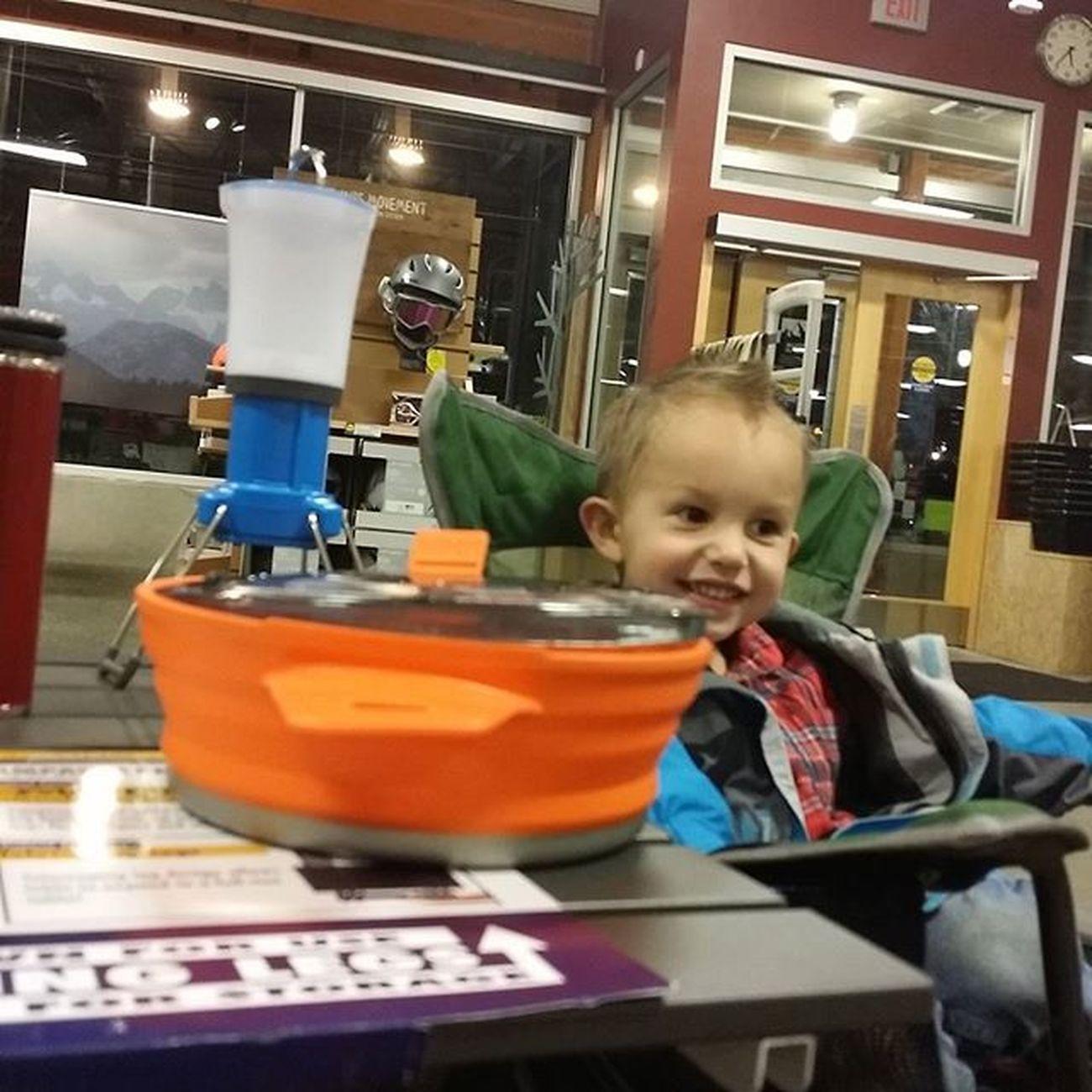 Elijah loves making hot dogs! :D