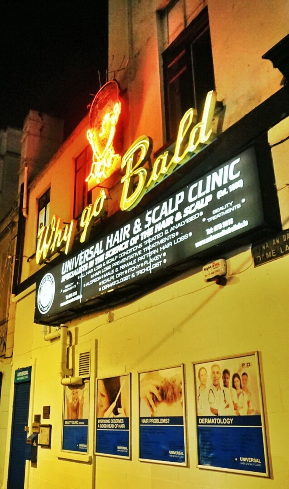 why go Bald? why not go Now? ;-) Neon Advertizing