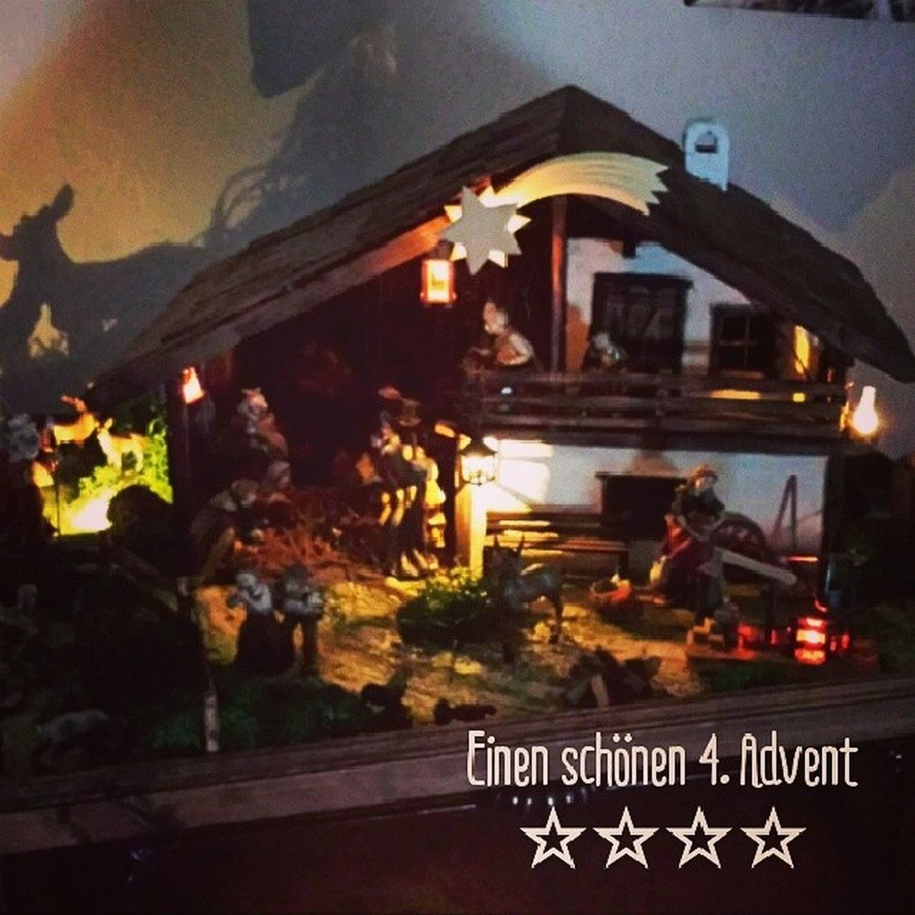 Christmas is coming... ? Advent 4advent Christmastime Christmas2013 christmasspirit christmasdecoration christmaslights christmasiscoming crib weihnachtskrippe nativityscene