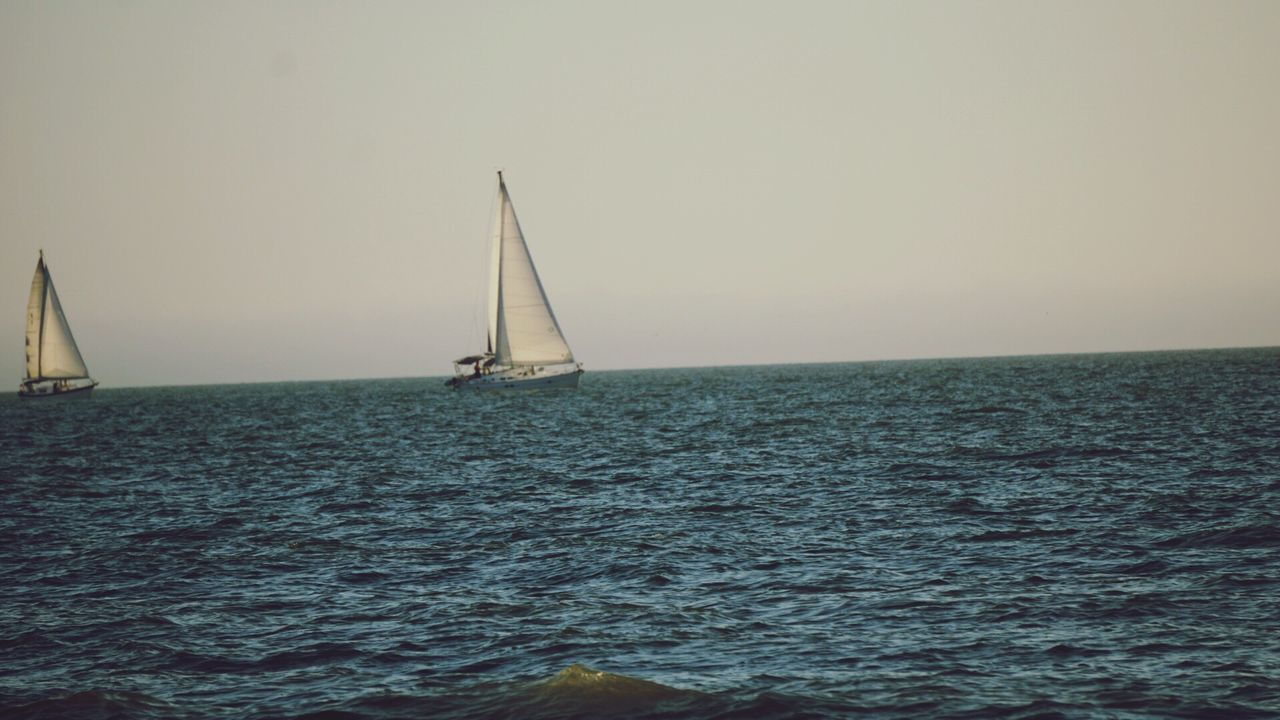 Day Beauty In Nature Sky Outdoors Water Sea Horizon Over Water Scenics Nature Sailing Nautical Vessel Waterfront No People Beauty In Nature Tranquility Sailboat Yachting Clear Sky Nature Sunlight Blue