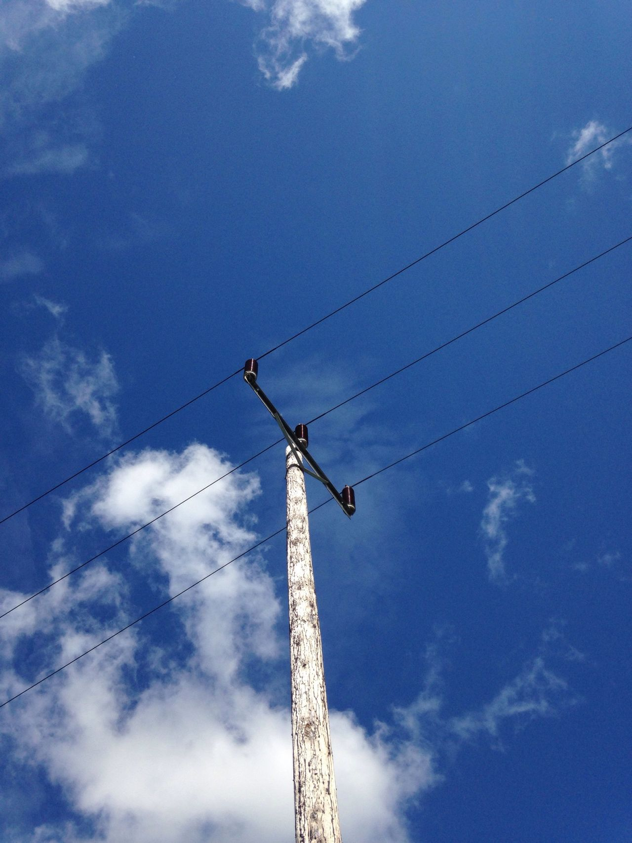 Blue Sky And Clouds Communicate Taking Photos OpenEdit Power Lines Minimalism Sky_collection Blue Sky