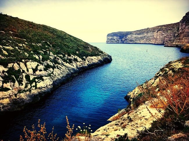 Water Sea Nature Beauty In Nature Scenics Rock - Object Tranquil Scene Tranquility No People Outdoors Day Mountain Cliff Sky Landscape Clear Sky The Great Outdoors - 2017 EyeEm Awards