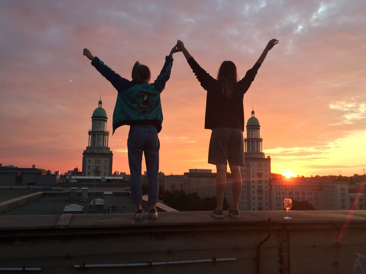 Beautiful stock photos of sunset, Architecture, Arms Outstretched, Arms Raised, Back Lit