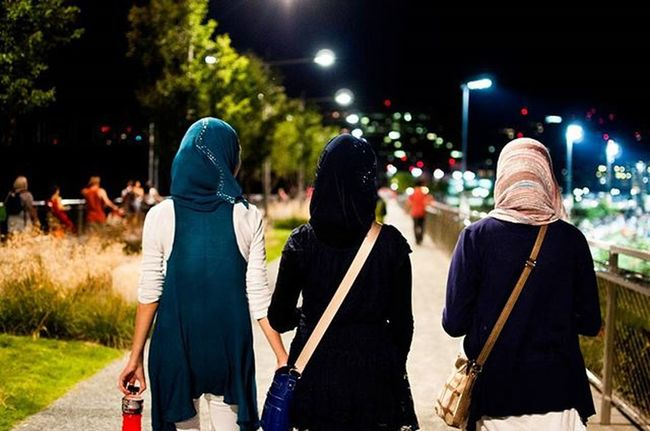 Tb to July4th2013 . Three of my cousins walking back to their cars to end the night. We all had a fun time together, but by the end of the night we were exhausted. Exhausted DC Cousins  Family Instafollow Independent  Hijabs Powerade Purses Blue Walkingintothenight Fireworks Summer FamilyFun  Love Instagood Instadaily Ztprod