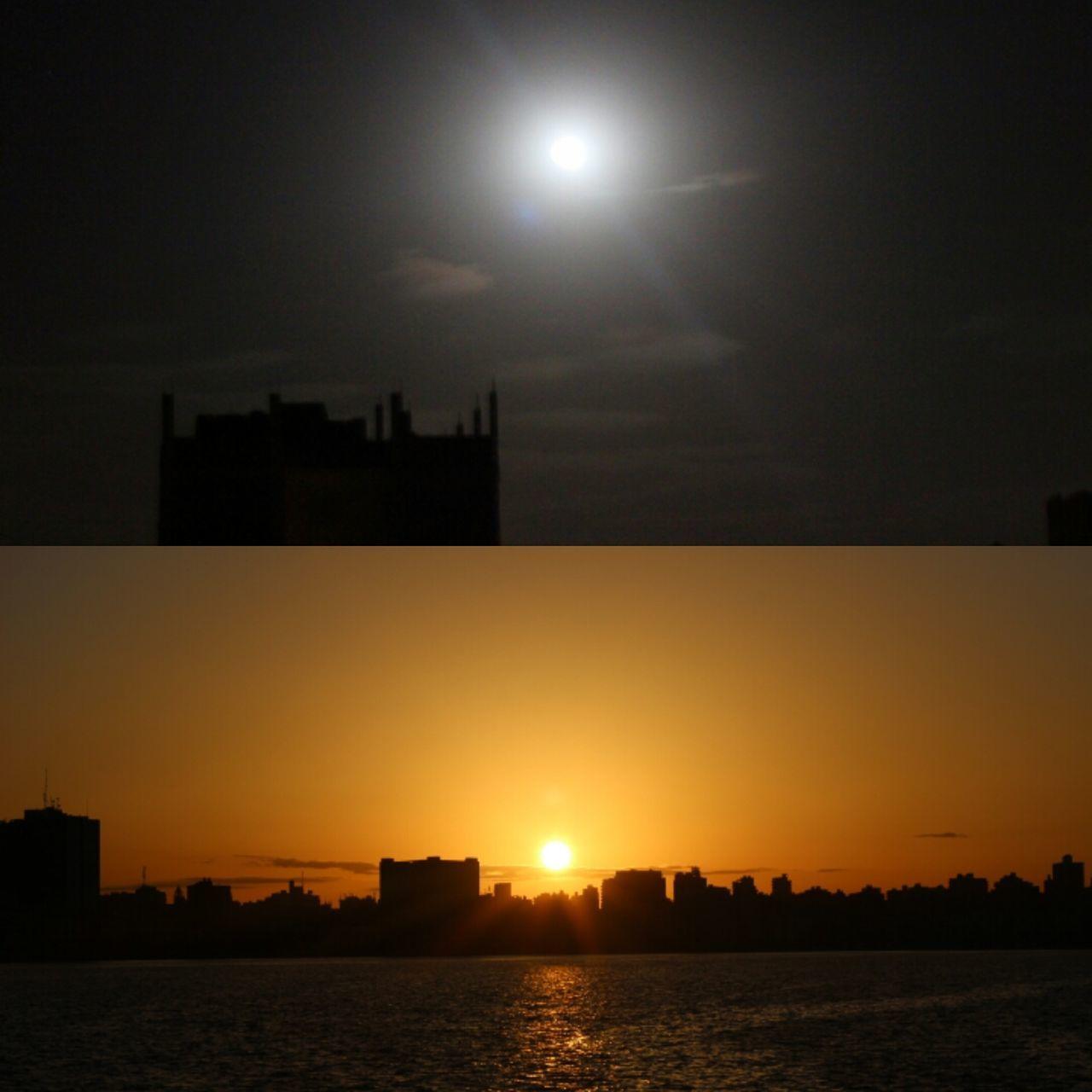 Sunset Night Sky Outdoors Moon Beauty In Nature No People Nature Alexandria Egypt Day Nightlife Sea Orange Black Dark Dayandnight
