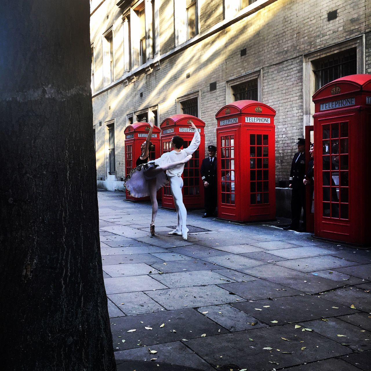 Ballerina Ballet Dancers Red Red Phone Boxes Covent Garden  London London Lifestyle