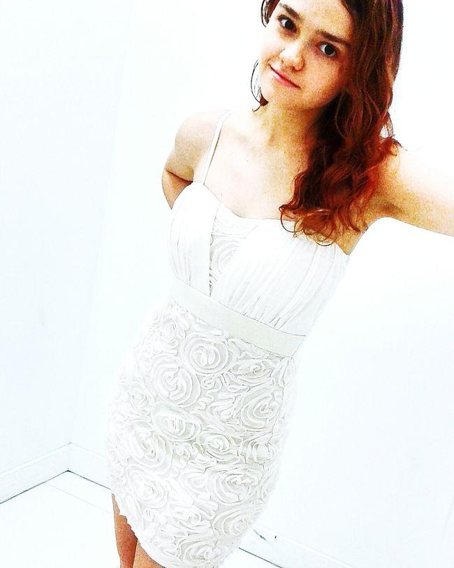 Dressed In White Color Splash Model Splash Of Color